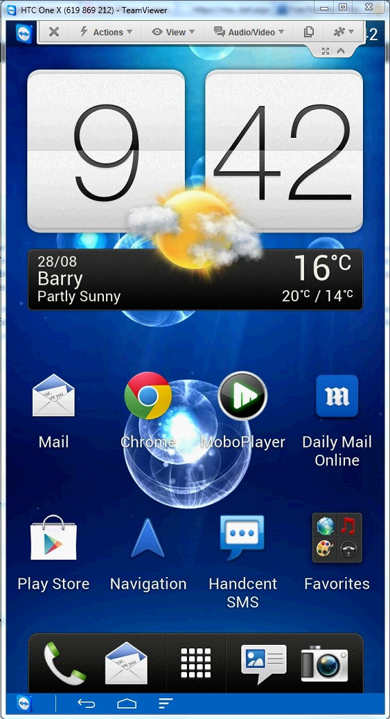 Remote Control your Android Phone with Teamviewer!